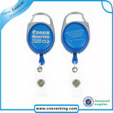 Retractable Custom Logo Badge Reel with Clips