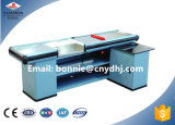 Europe Supermarket Checkout Counter with Conveyor Belt