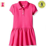 Pink Kids School Uniform Polo Skirts