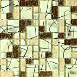 330X330mm Crystal Glass Mosaic Tile in Foshan (AJDS001B)