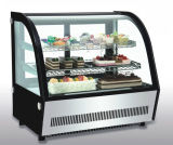 Cake Display Showcase Cooler with LED Light and Marble Base