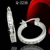 Fashion Jewelry Silver Diamond Earrings