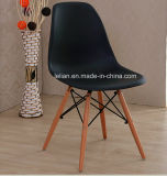 Living Room Plastic Dsw Chair with Wood Legs (LL-0040)
