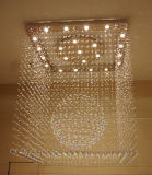 Hotel Project Square Luxury Crystal Ceiling Lamp with CCC, UL