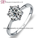 925 Sterling Silver Engamegent Ring Rhodium Plated Ladies Jewelry Sets Ring