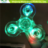 Fast Bearings Transparent LED Light Finger Fidget Hand Spinner Toys