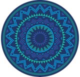 (BC-RT15088-0) 100% Cotton Round Beach Towel