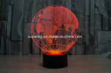 Globe 3D LED Illusion Night Light with 7 Color Desk Lamp