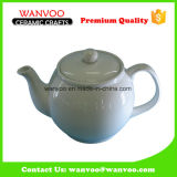 White Modern Ceramic Tea Pot for Home and Hotel