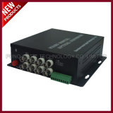 8 Channel Video Fiber Optic Converter with Audio and Data