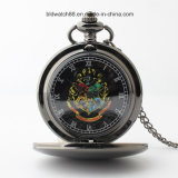 Black Tone Plain Pocket Watch with Picture