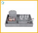 Luxury Guestroom Leatherette Grey Set
