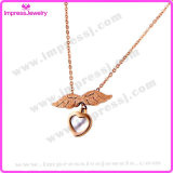 Hot Products Gold Heart and Wings Charm Flying Heart Necklace