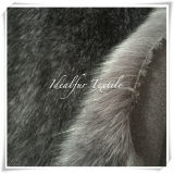 Silver Fox Faux Fur with Long Pile