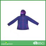Woman Polyester Fabric Purple Thin Cycling Softshell Jacket
