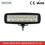 "6"" 12V/24V 6X3w Epistar LED Flood/Spot Work Light with E-MARK Approvaled"