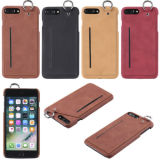 Soft Phone Case PU Leather Hanging Ring Card Hold
