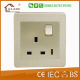 Bottom Price 13A One Gang Switched Socket with Neon
