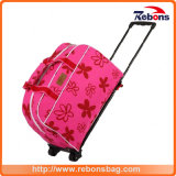 New Designed Flower Silk-Screen Trolley Bag with Ripstop