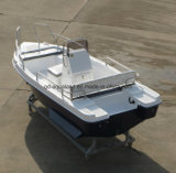 China Aqualand 15feet 4.6m Fiberglass Motor Boat/Sports Fishing Boat with Side Stabilizer (150)