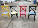 Sprig Bar Bistro Black Metal X Back Industrial Design Dining Chair