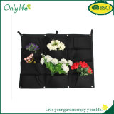 Onlylife 12 Pockets 66*80cm Felt Outdoor Vertical Gardening Flower Pots and Planter Hanging Pots Fabric Planter