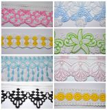 Chemical Milk Yarn Multiple Color Embroidery Lace for Accessories