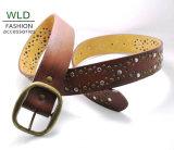 Fashion Lady′s Rivet Leather Belt Ky6304
