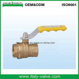 Customized Quality Forged Golden Bass Ball Valve with Handle (IC-1061)