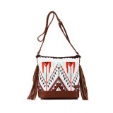 PU Handle Printed Cotton Casual Designer Bag (MBNO037131)