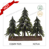 H27cm PE Plastic Wedding Holiday Artificial Christmas Decorations Christmas Tree