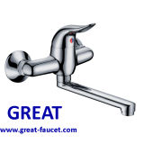 Chrome Plated Wall-Mounted Kitchen Faucet