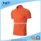Orange Color Sublimation Quick-Dry Polo T-Shirt