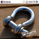 Standard Stainless Steel Screw Pin Bow Shackle