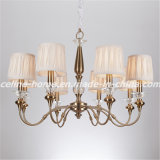 Iron Chandelier Lamp with Fabric Shade (SL2073-8)