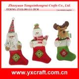 Christmas Decoration (ZY13L198-1-2-3 25CM) Christmas Nonwoven Sock