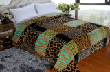Hot Sale 100% Polyester Raschel Blanket Sr-B17305-11 Soft Printed Mink Blanket