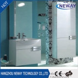 Simple Wall Mounted Bathroom Cabinet PVC with Mirror