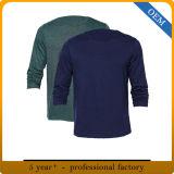 Custom Mens 100% Cotton Long Sleeved T Shirts