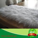 Curly Wool Home Deco Mongolian Lamb Skin Blanket Tibetan Plate