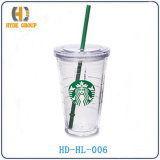 455ml Acrylic Cup with Straw (HD-HL-006)