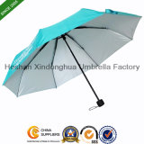 Three Fold Compact Umbrella with UV Coating (FU-3821B)
