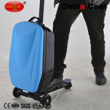 Dark Blue Business Travel Luggage Suitcase Scooter