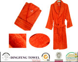 100% Cotton Solid Color Plain Terry Bathrobe Df-8856