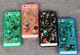 Liquid Sand Silicone cellular Phone Cases for iPhone/Samsung