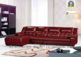Red Leather Home/Living Room Furniture Corner/Sectional Sofa (905)