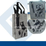Eco-Friendly Grey Felt Gear Trim Tote Bag