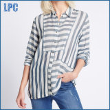 Modal Blend Striped 3/4 Sleeve Shirt