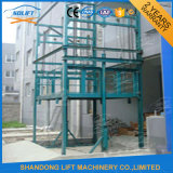 China Supplier Guide Rail Type Hydraulic Telescopic Mast Lift Platform