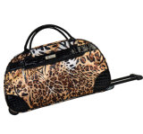 2017 Leopard Printing Trolley Bag with PVC Trim Good Quality